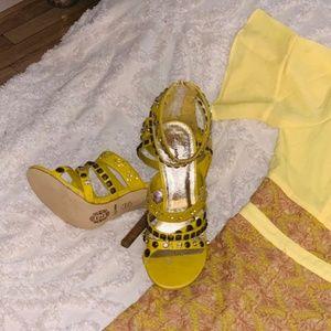 Zigi Soho Brilliantly Yellow Heels - 8.5